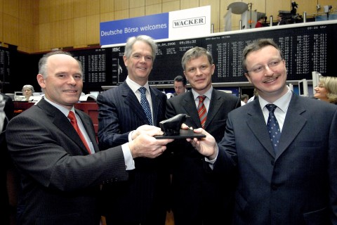 WACKER's top management attends IPO in Frankfurt