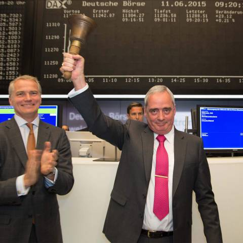 Top Siltronic management attending IPO at Frankfurt Stock Exchange