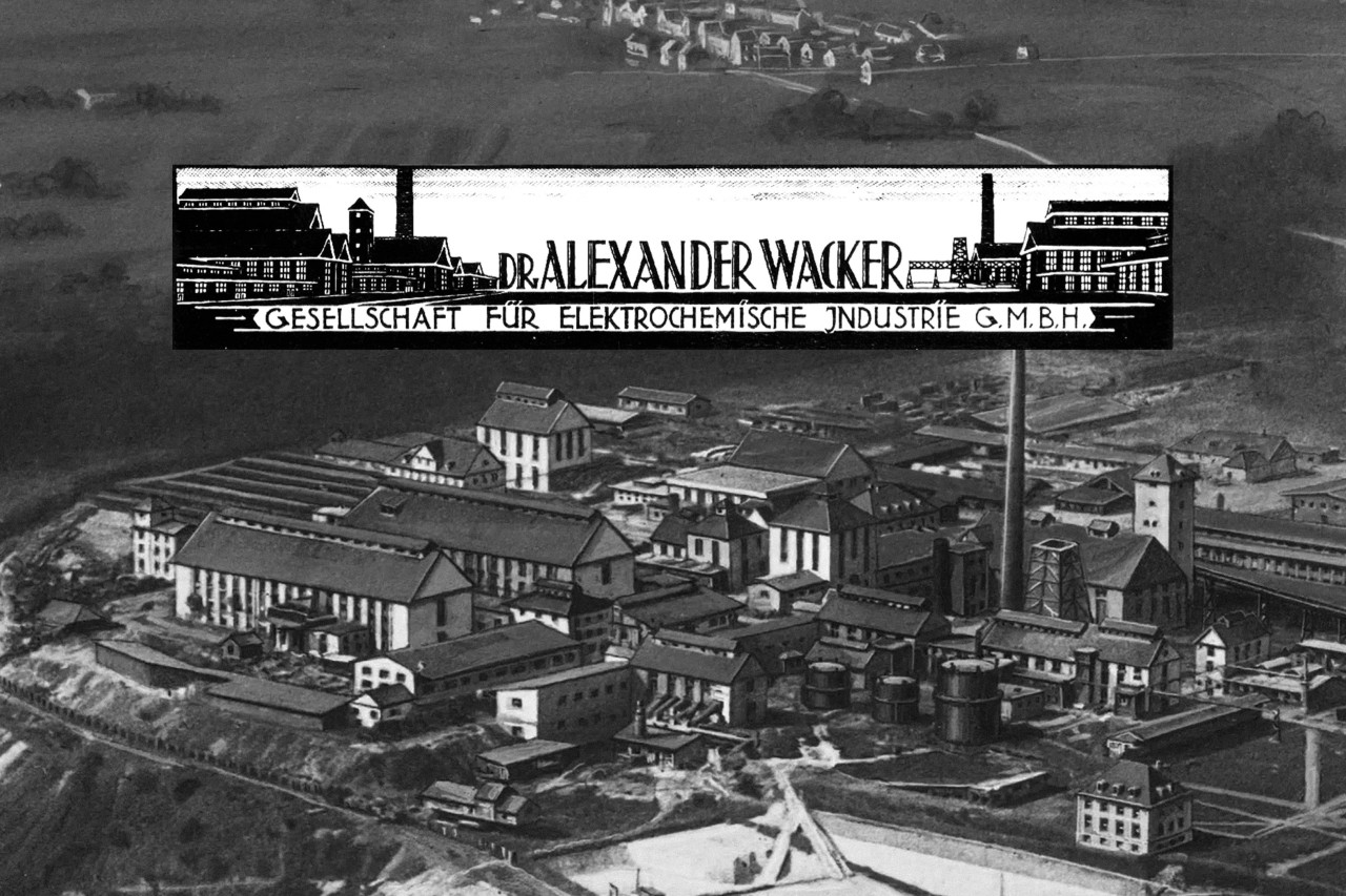 Historical picture of WACKER production site