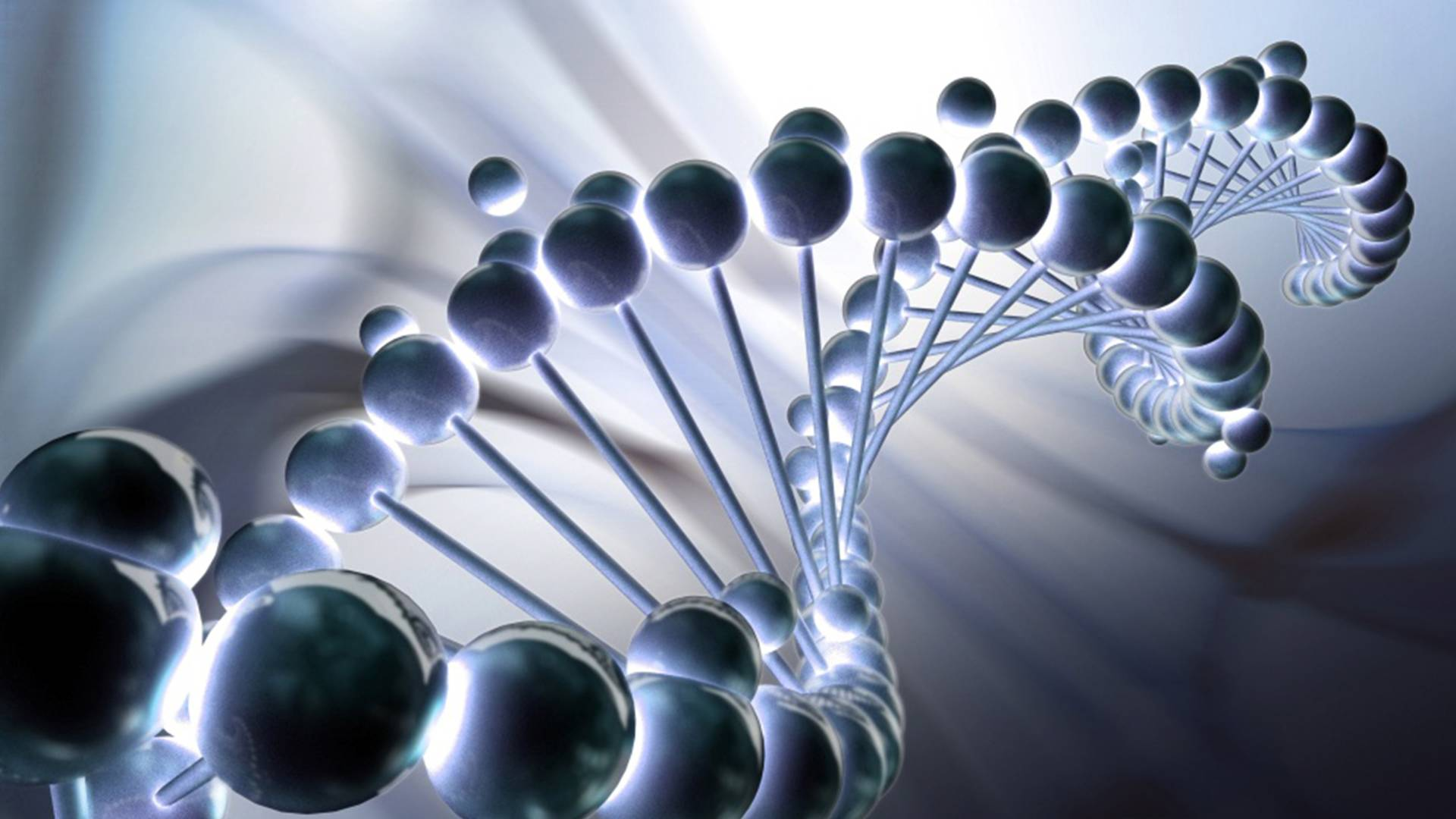 Close-up of a double helix